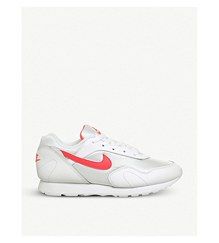 NIKE Outburst OG leather and mesh trainers (White+solar+red