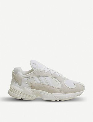 3df1669caad3 ADIDAS Yung 1 nubuck-leather trainers
