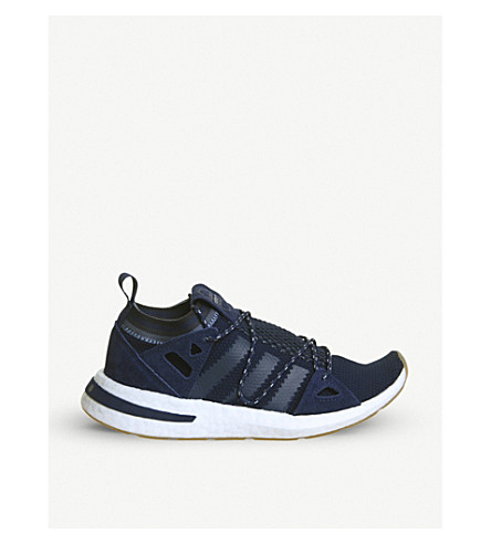 ADIDAS Arkyn leather and mesh trainers (Universe+dark+blue