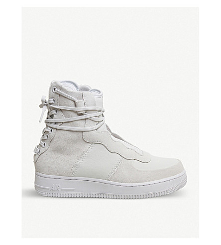 NIKE Air Force 1 Rebel XX high-top suede trainers (Icons+xx+off+white