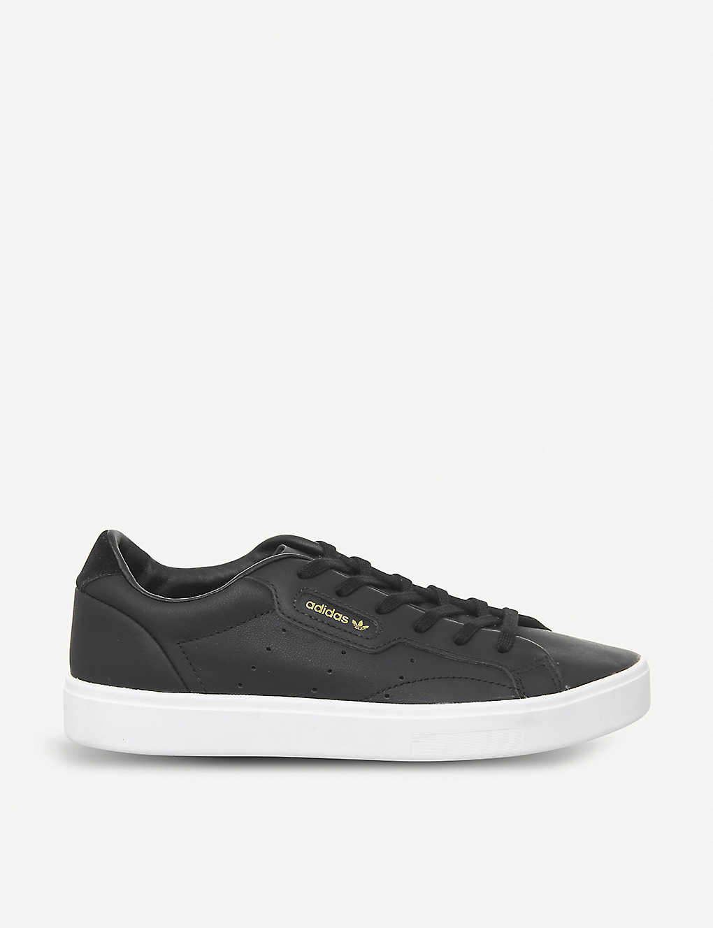 Sleek leather trainers(7988616)