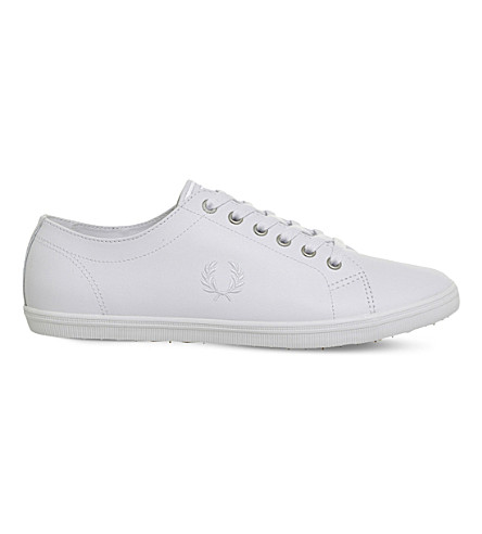 FRED PERRY Kingston leather plimsolls (White+white