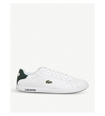 LACOSTE Graduate low-top leather trainers (White+dark+green