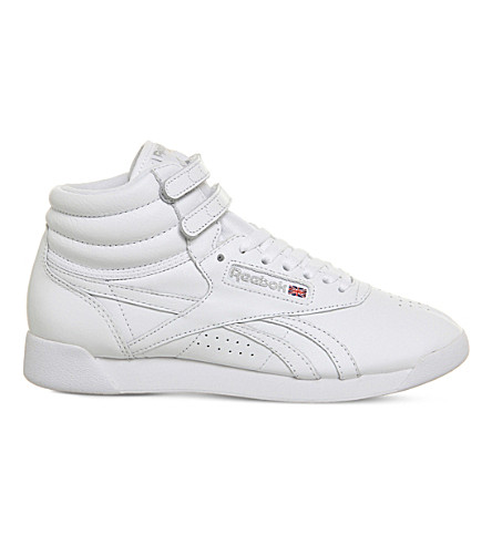 REEBOK Freestyle Hi Top leather trainers