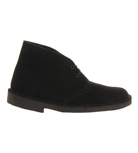 CLARKS ORIGINALS Desert boots (Black+suede