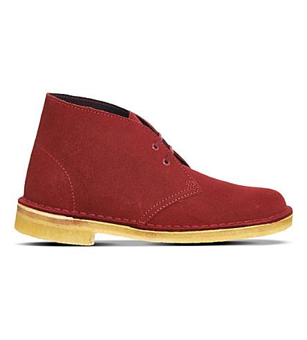 CLARKS ORIGINALS Suede Desert boots (Cherry suede