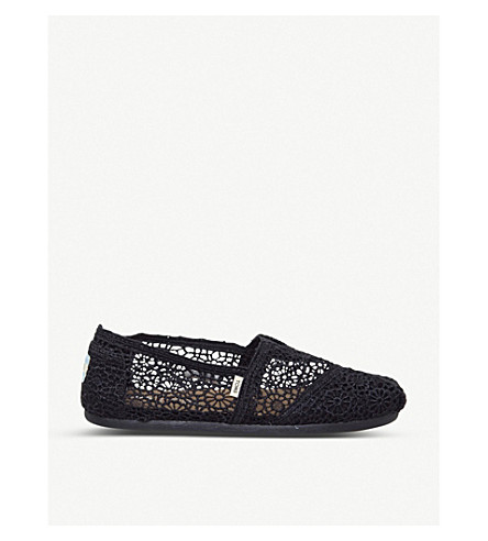 TOMS Crochet slip-on espadrille shoes (Black+crochet