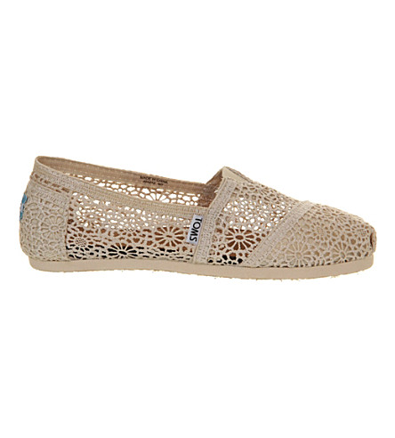 TOMS Classic crochet shoes (Natural+crochet