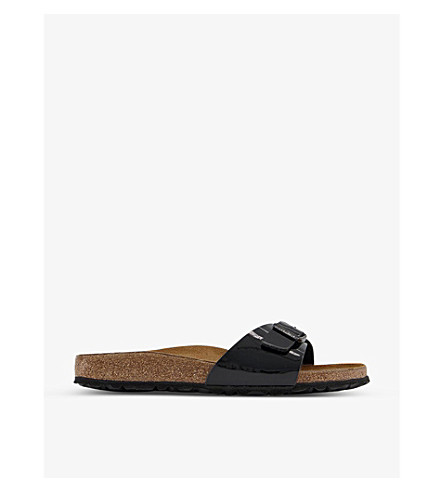 BIRKENSTOCK Madrid patent faux-leather sandals (Black+patent