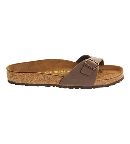 BIRKENSTOCK Madrid faux-leather sandals (Mocha+nubuck