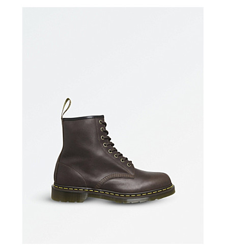 DR.貂 1460 8 眼 Caparthian 皮靴 (黄褐色 + 喀尔巴阡山