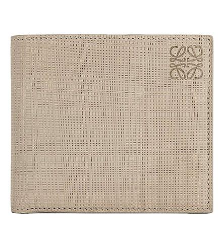 LOEWE Bi-fold leather wallet (Stone