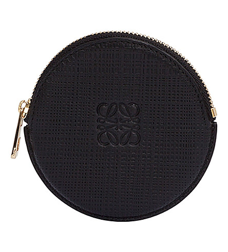 LOEWE Round leather coin purse (Black