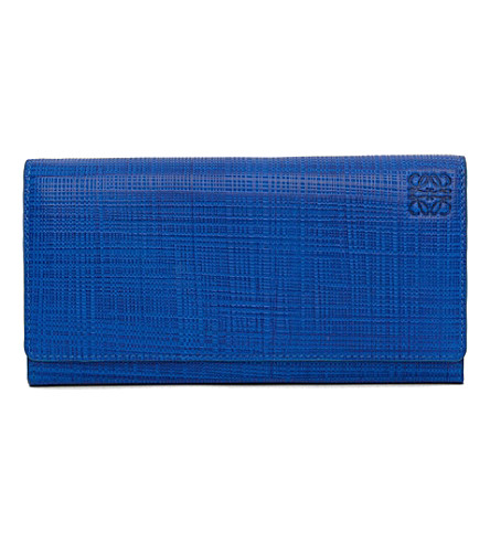 LOEWE Continental leather wallet (Electric+blue