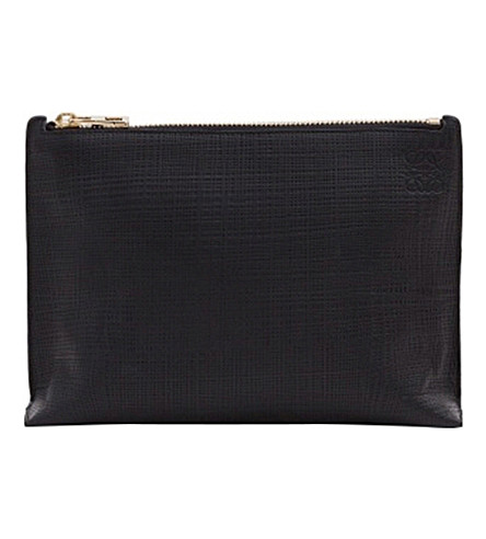 LOEWE XL Large leather pouch (Black