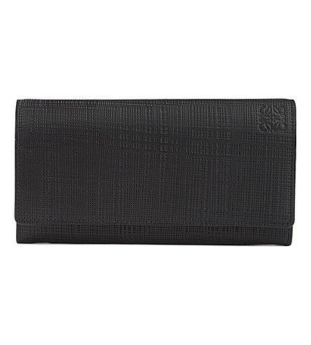 LOEWE Continental leather wallet (Black