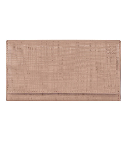 LOEWE Continental leather wallet (Blush