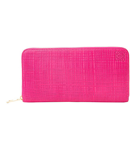LOEWE Continental leather wallet (Fuchsia