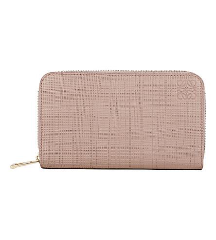 LOEWE Medium zip-around leather wallet (Blush