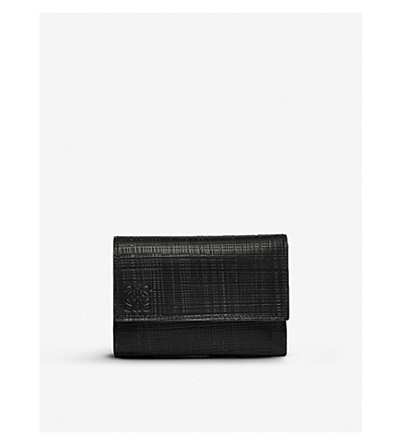 LOEWE Small Vertical Zip leather wallet (Black
