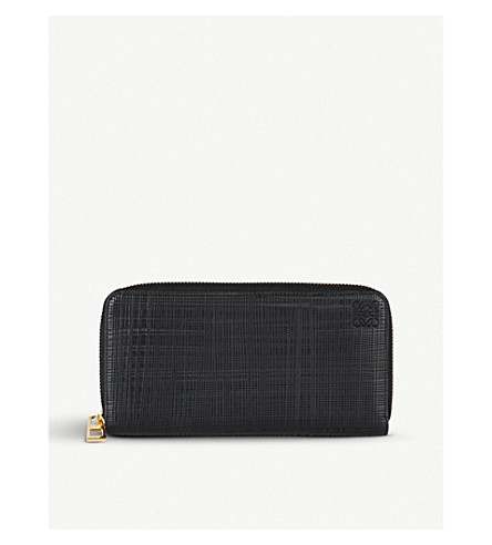 LOEWE Zip-around leather wallet (Black