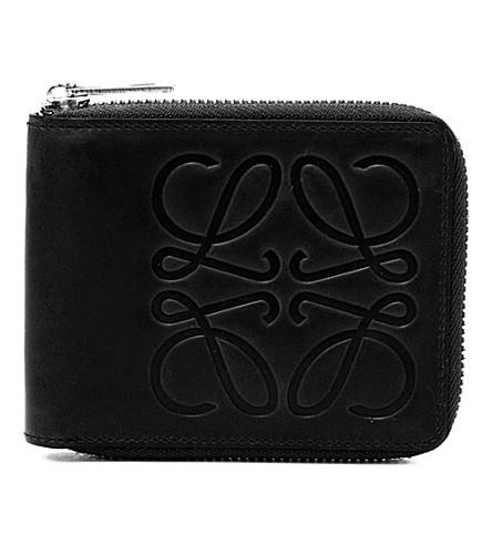 LOEWE Calf-leather bi-fold wallet (Black