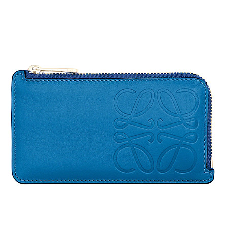 LOEWE Anagram key holder (Electric+blue