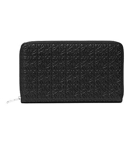 LOEWE Giant zip-around wallet (Black