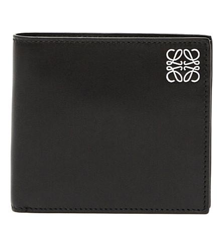 LOEWE Logo-embossed leather coin wallet (Black