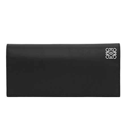 LOEWE Logo-embossed long horizontal wallet (Black