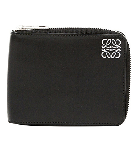 LOEWE Calf-leather bi-fold wallet (Black