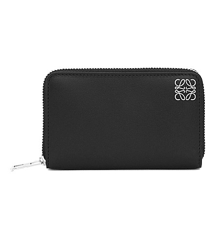 LOEWE Logo-embossed card holder (Black