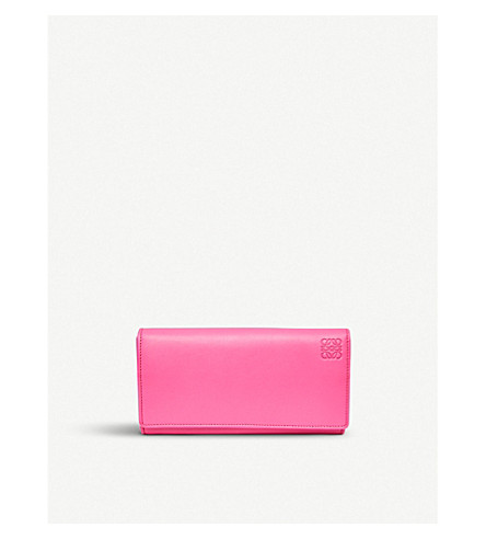 LOEWE Continental wallet (Fucshia/sand