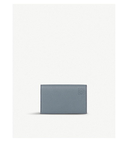 LOEWE Leather business card holder (Cloud/navy