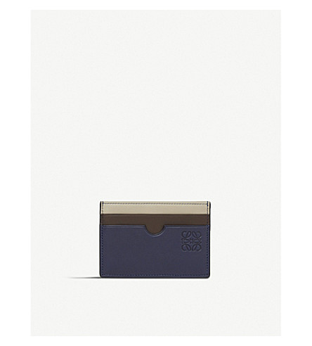 LOEWE Rainbow leather card holder (Blue/multicolour