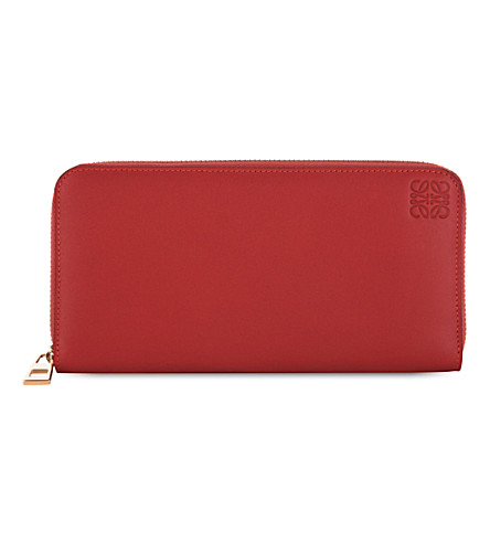 LOEWE Zip-around wallet (Red