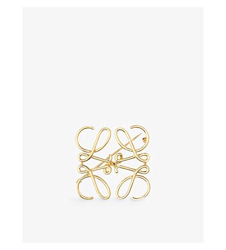 LOEWE Anagram brooch (Gold