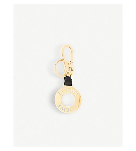 LOEWE Logo Medal brass keyring (Gold