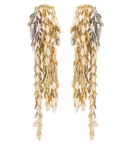 LOEWE Metal chain earrings (Gold/palladium