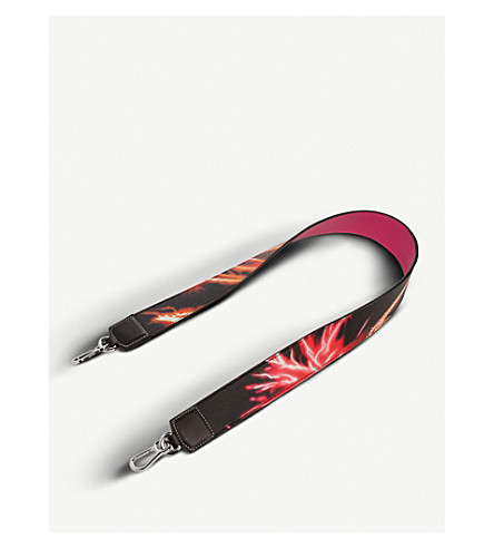 LOEWE Fireworks leather bag strap (Multicolour