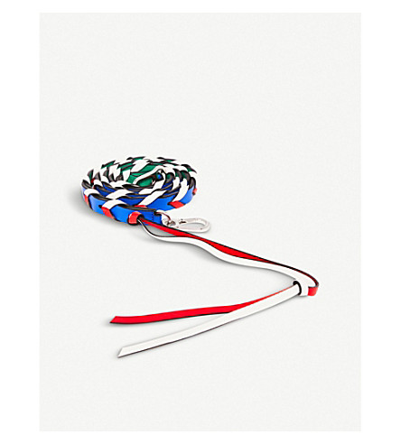 LOEWE Braided thin leather strap (Multicolour