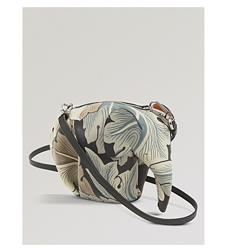 LOEWE Elephant Camo minibag leather shoulder bag (Green+multitone