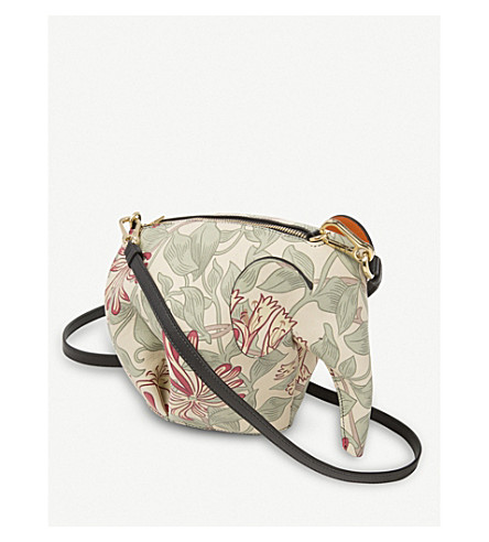 LOEWE Elephant Honeysuckle leather minibag (Multicolour