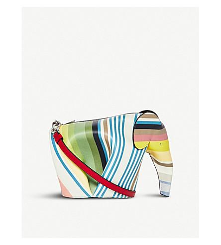 LOEWE Elephant Stripes minibag leather shoulder bag (Multicolour
