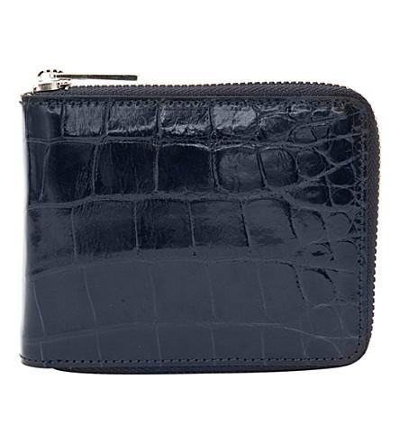 LOEWE Bi-fold zipper wallet (Navy+blue