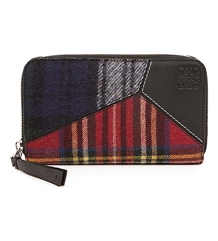 LOEWE Puzzle medium zip around (Black/multicolor
