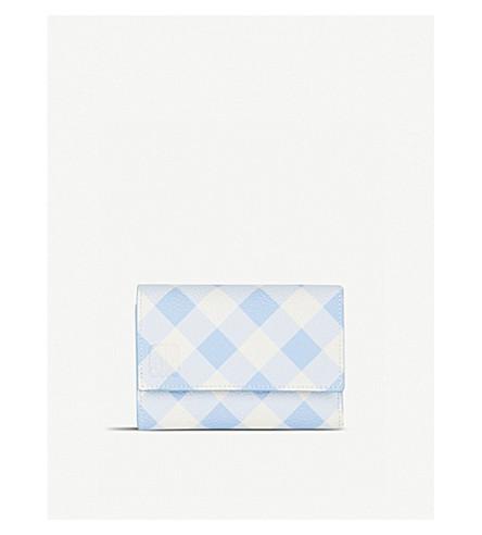 LOEWE Vertical gingham leather wallet (Soft+blue