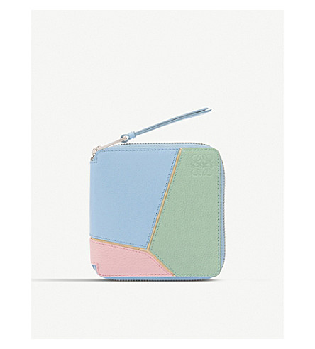 LOEWE Puzzle square leather wallet (Multicolour