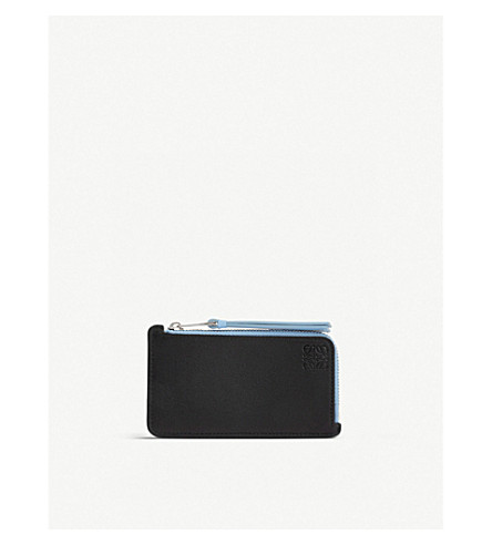 LOEWE Rainbow leather coin and card holder (Black/multicolor