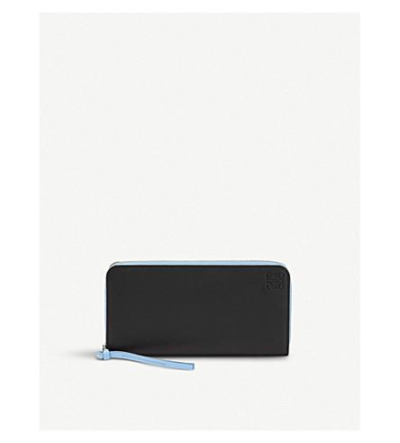 LOEWE Rainbow leather zip-around wallet (Black/multicolor